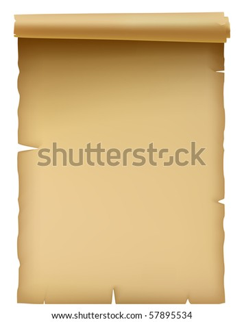 Illustration of the ancient parchment isolated over white - stock vector