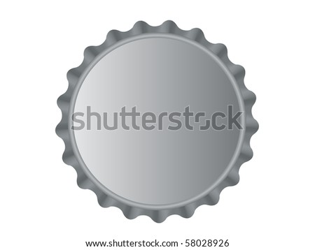 Illustration of the bottlecap isolated over white background