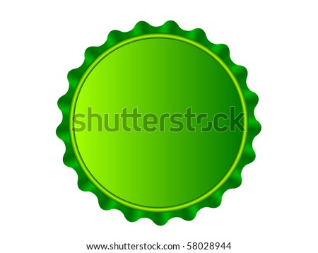 Illustration of the bottlecap isolated over white background - stock vector