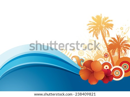 Illustration of the colorful summer holiday background suitable for vertical & horizontal design. - stock vector