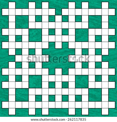Illustration of the crossword puzzle pattern on abstract background - stock vector