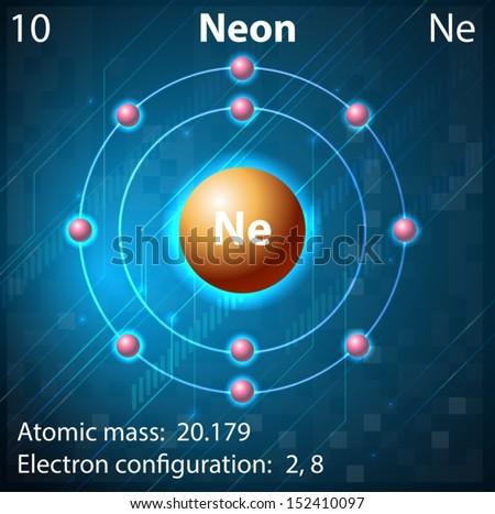 Illustration Element Neon Stock Vector #2: stock vector illustration of the element neon