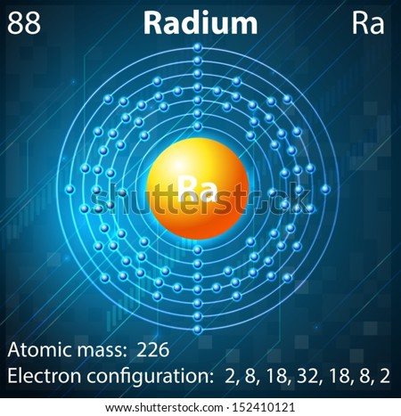 Illustration Element Radium Stock Vector Royalty Free 152410121