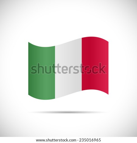 Illustration of the flag of Italy isolated on a white background. - stock vector