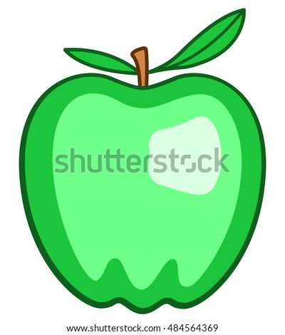 Illustration of the green apple icon
