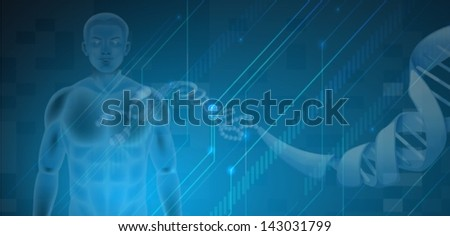 Illustration of the Human DNA - stock vector