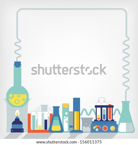 Illustration of the laboratory - stock vector