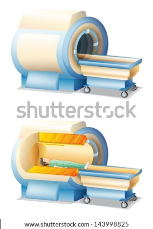 Illustration of the Magnetic resonance imaging machine - stock vector