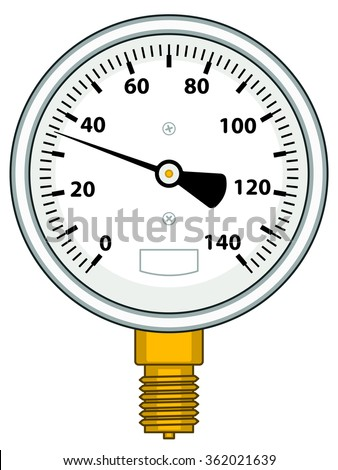 Illustration of the manometer icon - stock vector
