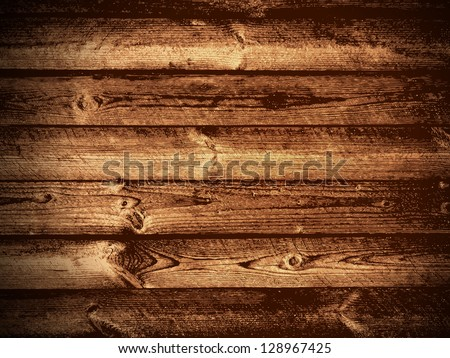 Illustration of The Natural Dark Wooden Background - stock vector