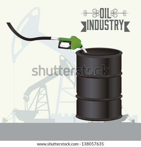 Illustration of the oil industry, oil exploitation icons, vector illustration