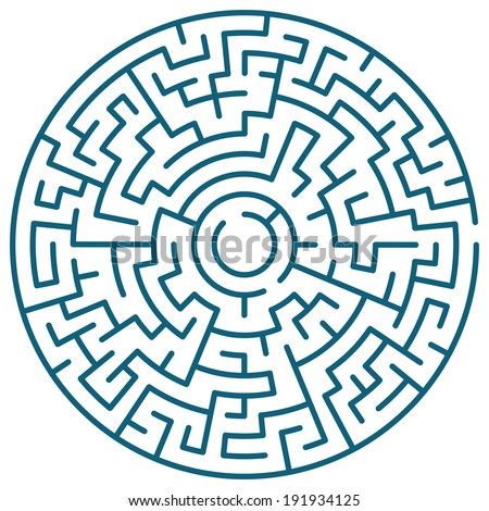 Illustration of the round maze