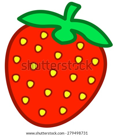 Illustration of the strawberry icon - stock vector