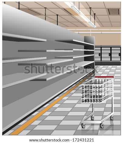 Illustration of the supermarket - stock vector