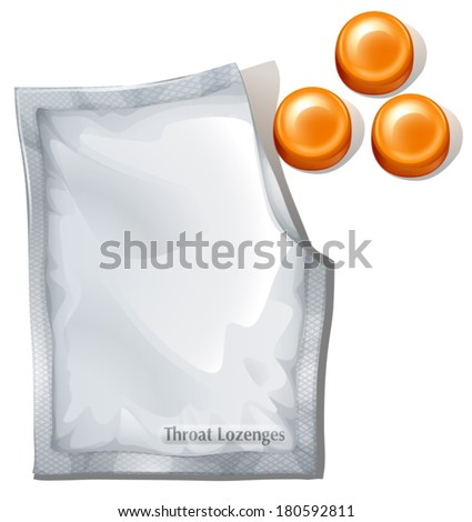 Illustration of the throat lozenges on a white background - stock vector