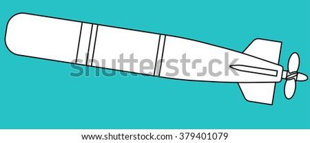 Illustration of the torpedo icon - stock vector