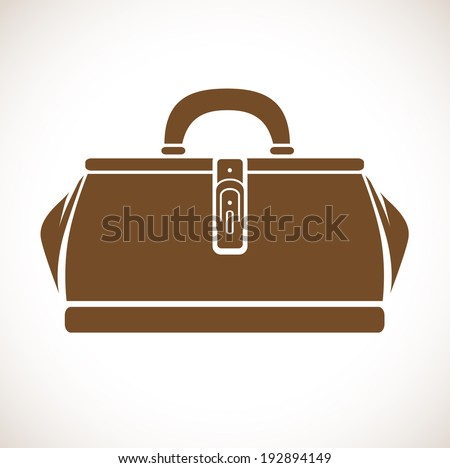 Illustration of the Vintage Single Doctor`s Bag - stock vector