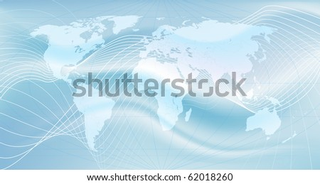 Illustration of the world. An abstract representation of global communications - stock vector