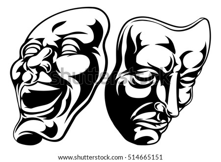illustration theatre comedy tragedy masks stock vector 514665151 rh shutterstock com comedy tragedy masks vector free Comedy and Tragedy Masks Drawing