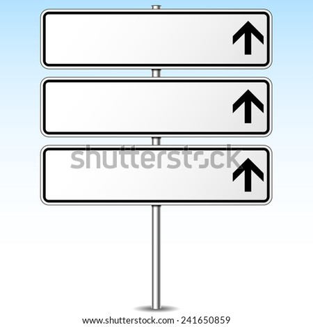 illustration of three directions blank signpost for your text - stock vector