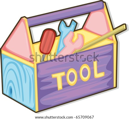 illustration of tool box on a white background - stock vector