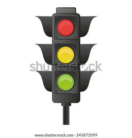 illustration of traffic light, vector