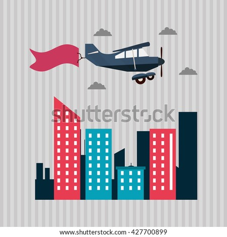 Illustration of travel, editable vector - stock vector