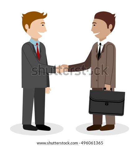 Illustration of two businessmen on white background