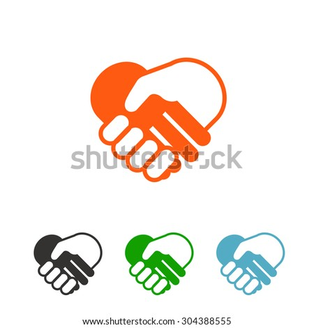 Illustration of two businessmen shaking hands. Good deal - stock vector