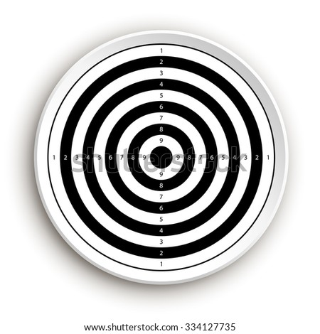 illustration of two color target on white background with shadow