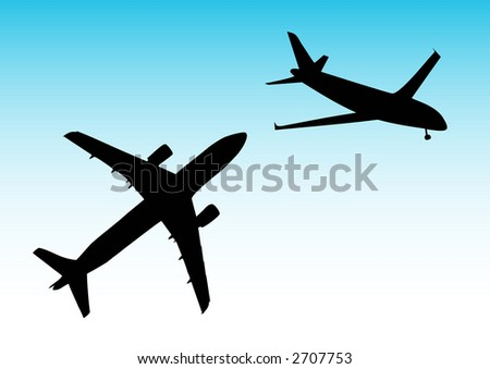 illustration of two planes