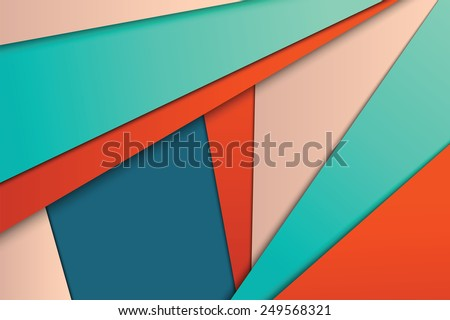 Illustration of unusual modern material design vector background - stock vector