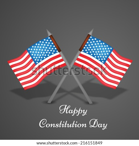 Illustration of USA Flag for Constitution Day or Veterans Day