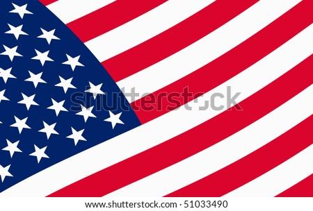 Illustration of USA flag, vector - stock vector