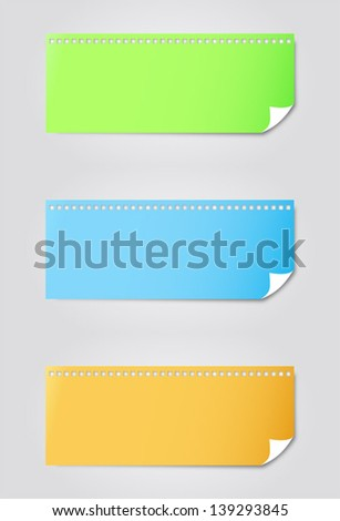 illustration of various colourful note paper reminder vector