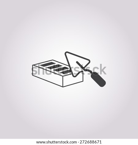 illustration of vector building modern icon in design - stock vector
