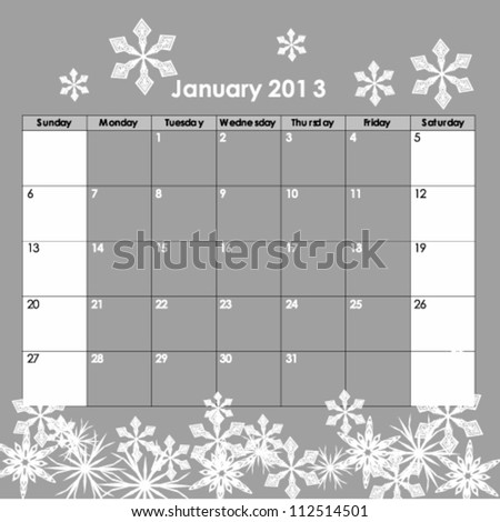 Illustration of VECTOR - Calendar Design 2013 - stock vector