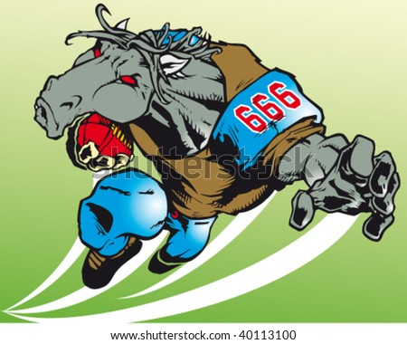 illustration of very creative sport animals - stock vector