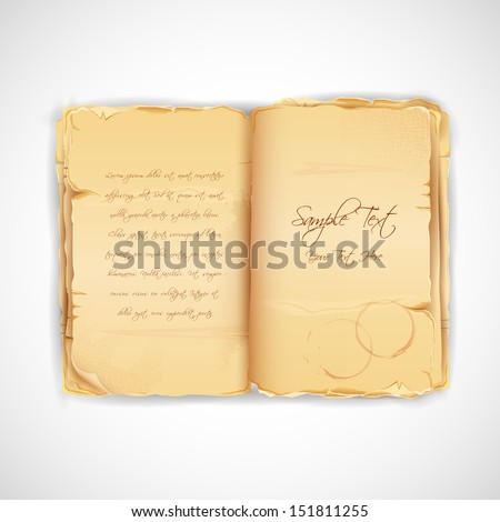 illustration of vintage paper of antique book - stock vector