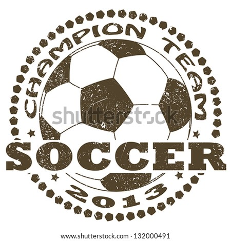 illustration of vintage soccer sport label . sports logo element