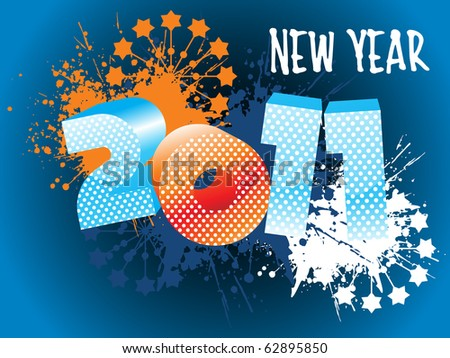 illustration of wallpaper for new year 2011