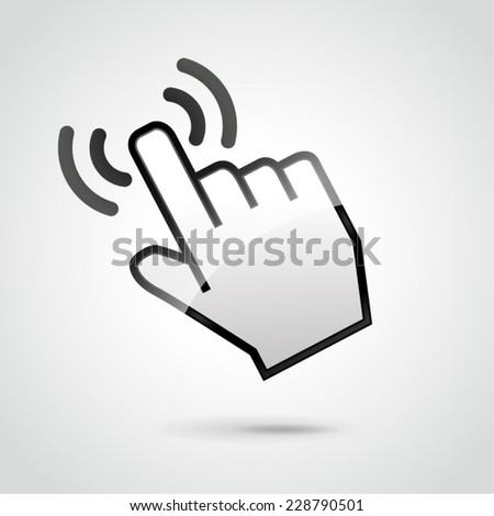 illustration of web hand for click concept - stock vector
