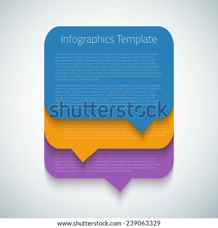 Illustration of Web Infographic Timeline Bubble Template Layout With Vector Icons, could be used for website, UI, phone, tablet pc