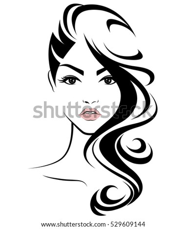 vector hair style stock illustration hair style icon stock vector 6515 | stock vector illustration of women long hair style icon logo women face on white background vector 529609144