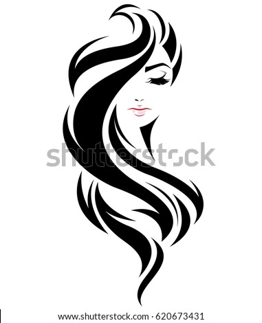 vector hair style stock hairstyle logo vector free hair 6515 | stock vector illustration of women long hair style icon logo women face on white background vector 620673431