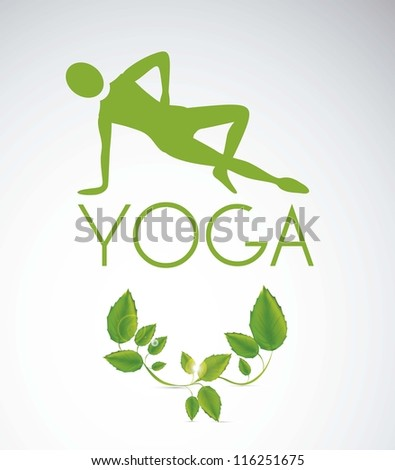 illustration of yoga icon, yoga position silhouette, vector illustration - stock vector
