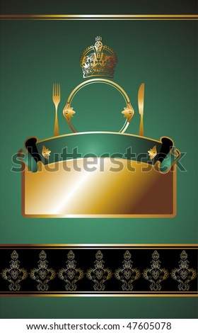 illustration on blue background for food industry, menu, cover,