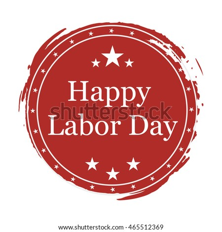 Illustration on day Labor day on white background