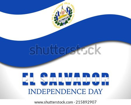 Illustration On El Salvador Flag Independence Stock Vector 215892907
