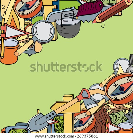 illustration on the theme of travel and tourism. - stock vector